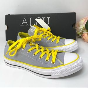 Converse Ctas Low Top Canvas Wolf Grey Yellow W
